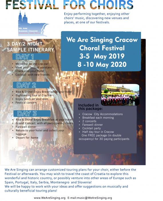 International Choral Festival We Are Singing Cracow
